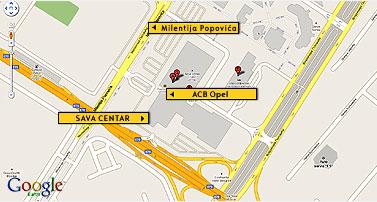 mapa beograda sava centar Dilerska mreža   Opel ACB Šabac mapa beograda sava centar